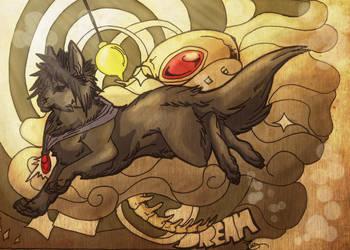 Sandman Wolf form by IzaPug