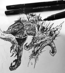 WIP - Dragon by IzaPug