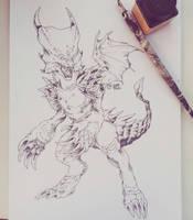 Garnet Dragon Form by IzaPug