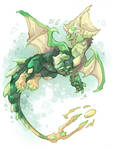 Peridot Dragon by IzaPug