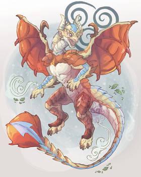 Aang Dragon Form