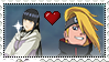Request Stamp - Hinata/Deidara by FogBlob