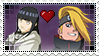 Request Stamp - Hinata/Deidara 2 by FogBlob