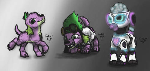 Dog Spike Plus One by TheTrefoiler