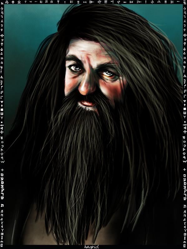 Rubeus Hagrid card by Patilda