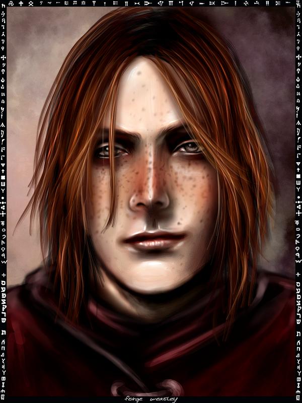 Forge Weasley card by Patilda
