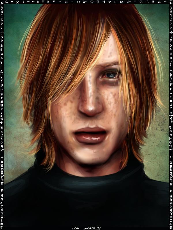 Ron Weasley card by Patilda