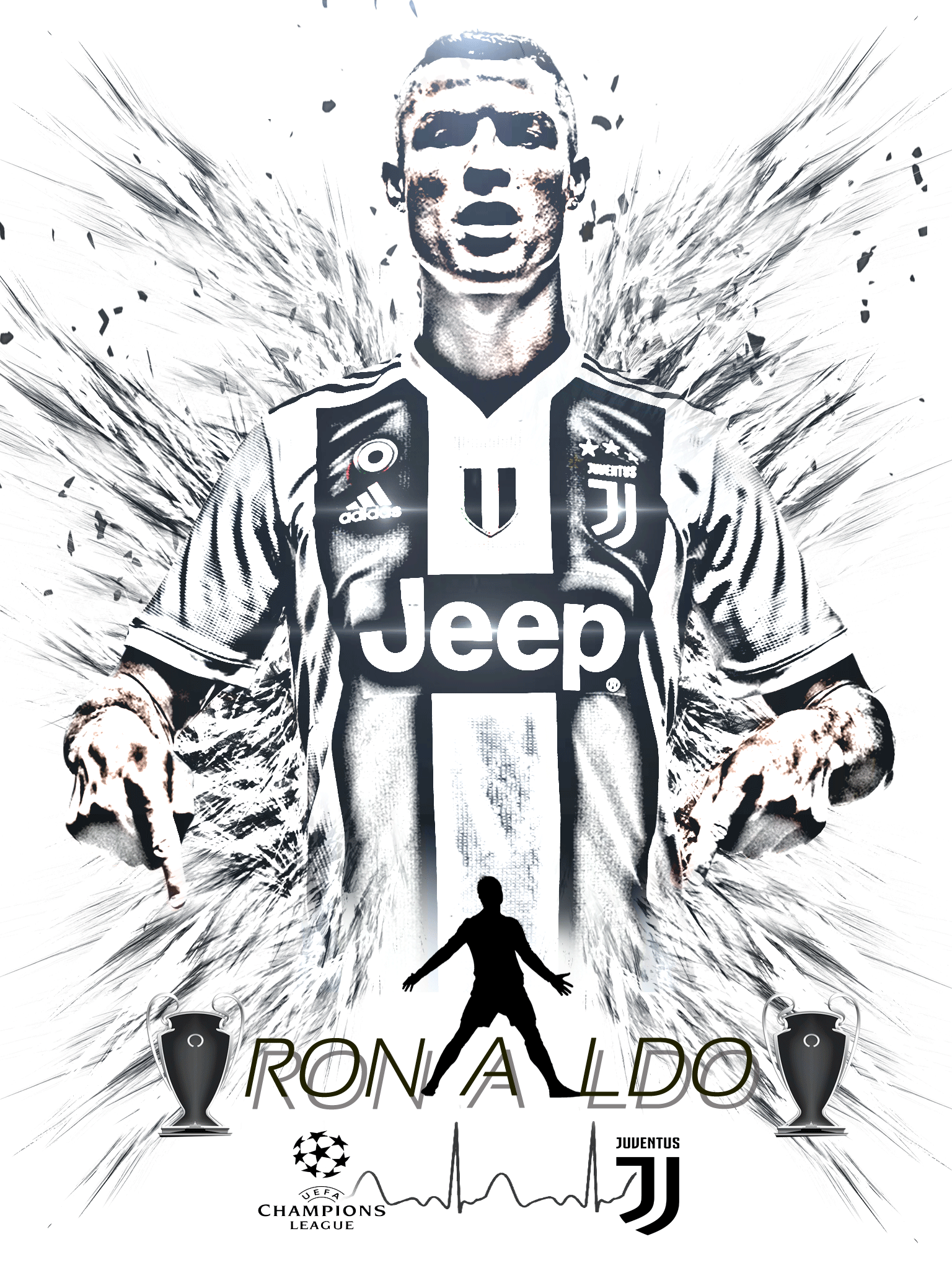 Cristiano Ronaldo Cartoon Wallpaper