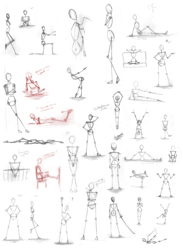 Pose Practice Stick Figures By Iduna Haya On Deviantart