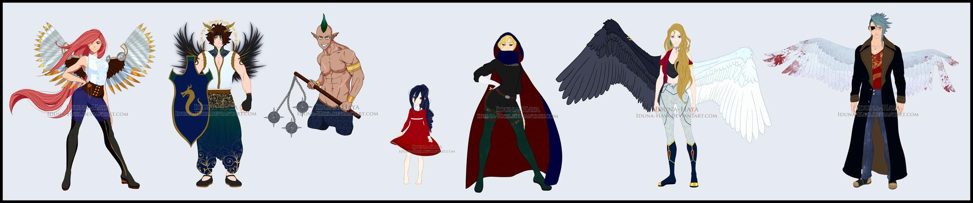 Character Designs 2017.1 by Iduna-Haya