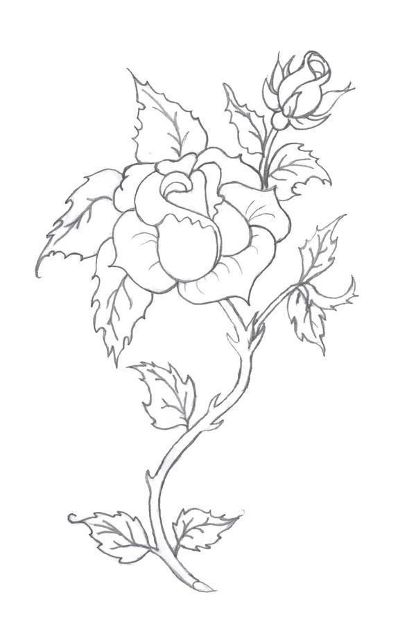 rose tattoo pencil by tobilou on DeviantArt