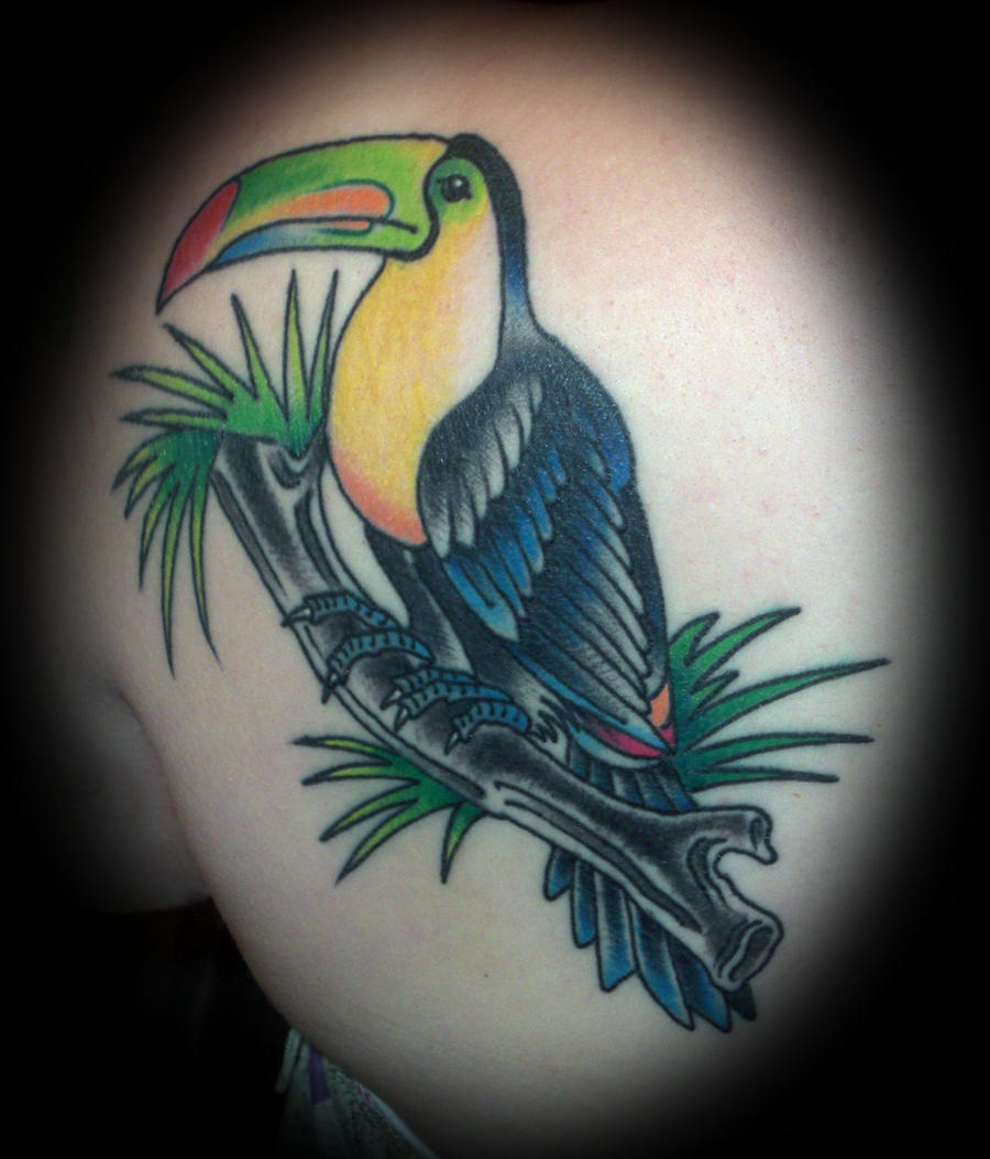 toucan tattoo by tobilou on deviantart. Black Bedroom Furniture Sets. Home Design Ideas