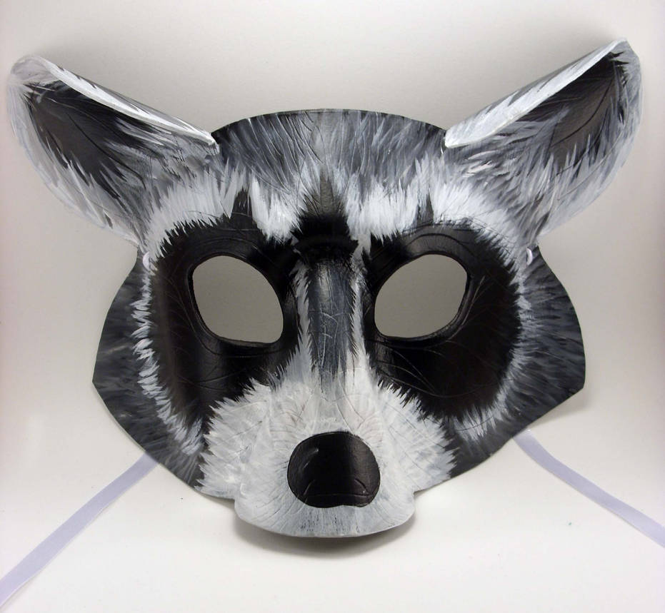 Raccoon Mask by LucyLovesLeather on DeviantArt