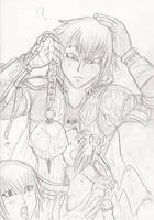 review sketch: Pandora's Tower by NigoMonster