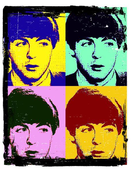 Paul McCartney Pop Art By Flerptermite