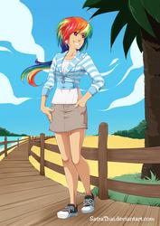 Dashie's walking on the beach