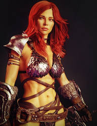 Red Sonja, Red-Haired Warrior Woman Fan Art by ED--3D