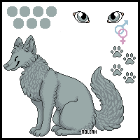 Small wolf ref sheet by noleah