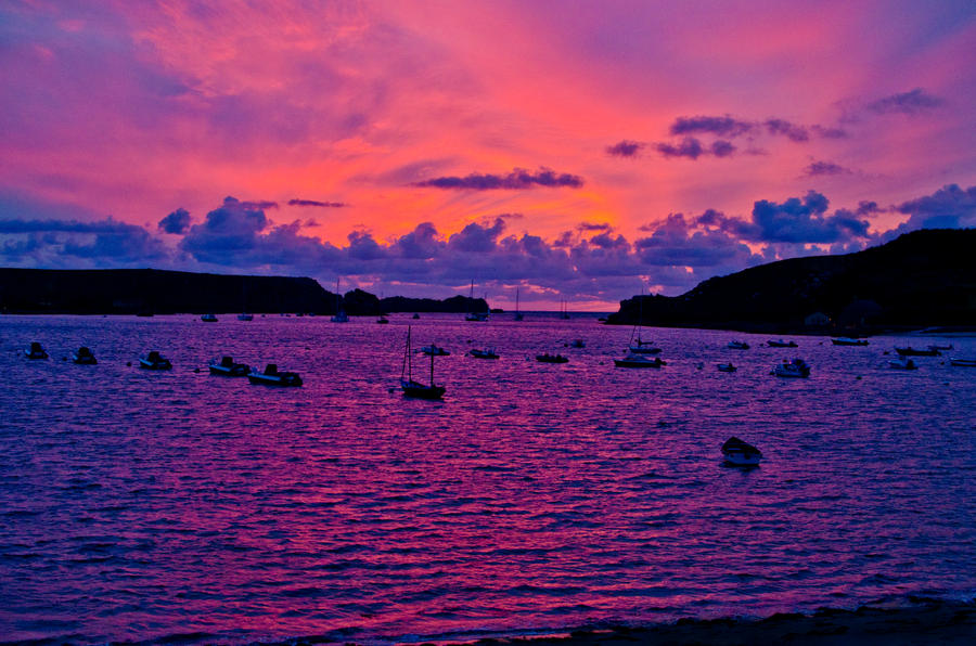 Sunset on Tresco 1, Isles of Scilly by lotusnet