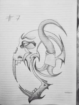 Alien Skull Tattoo