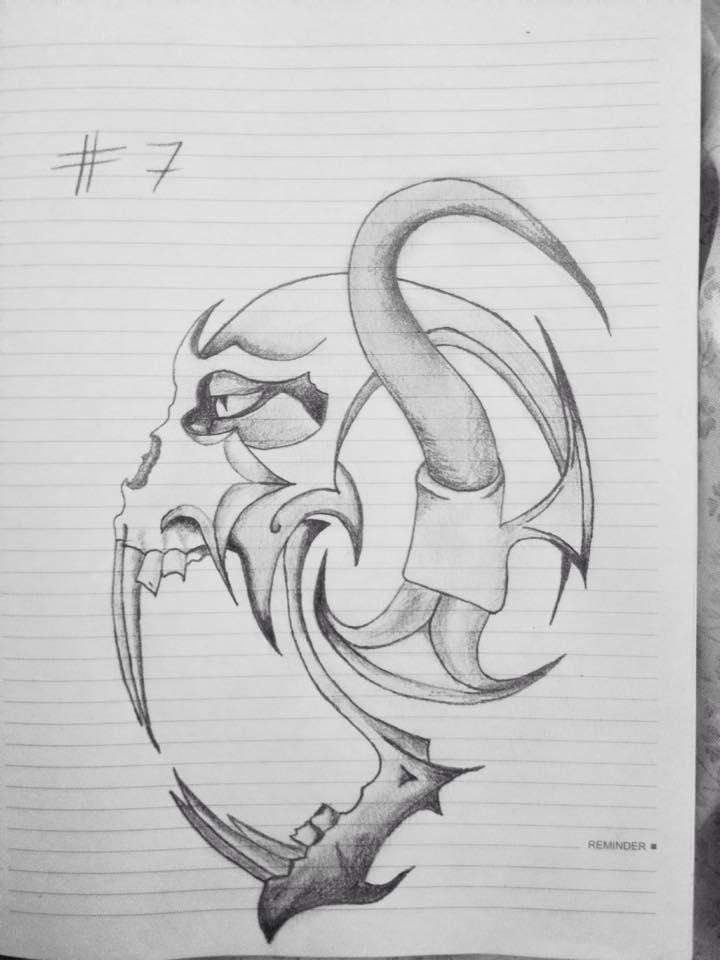 Alien Skull Tattoo by dejan91lp