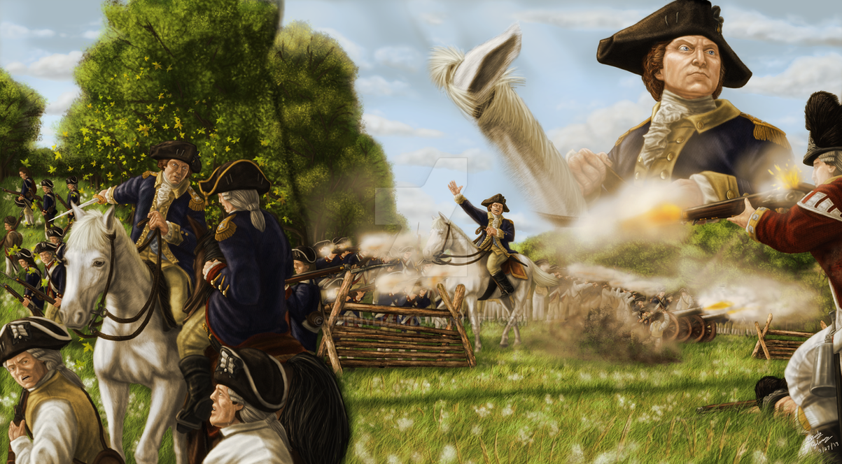 George Washington at the Battle of Monmouth by TheHylden