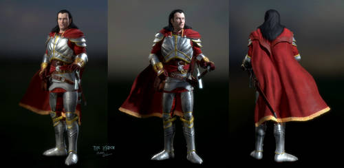 Human Kain: Army of the Last Hope Armor with Cloak by TheHylden