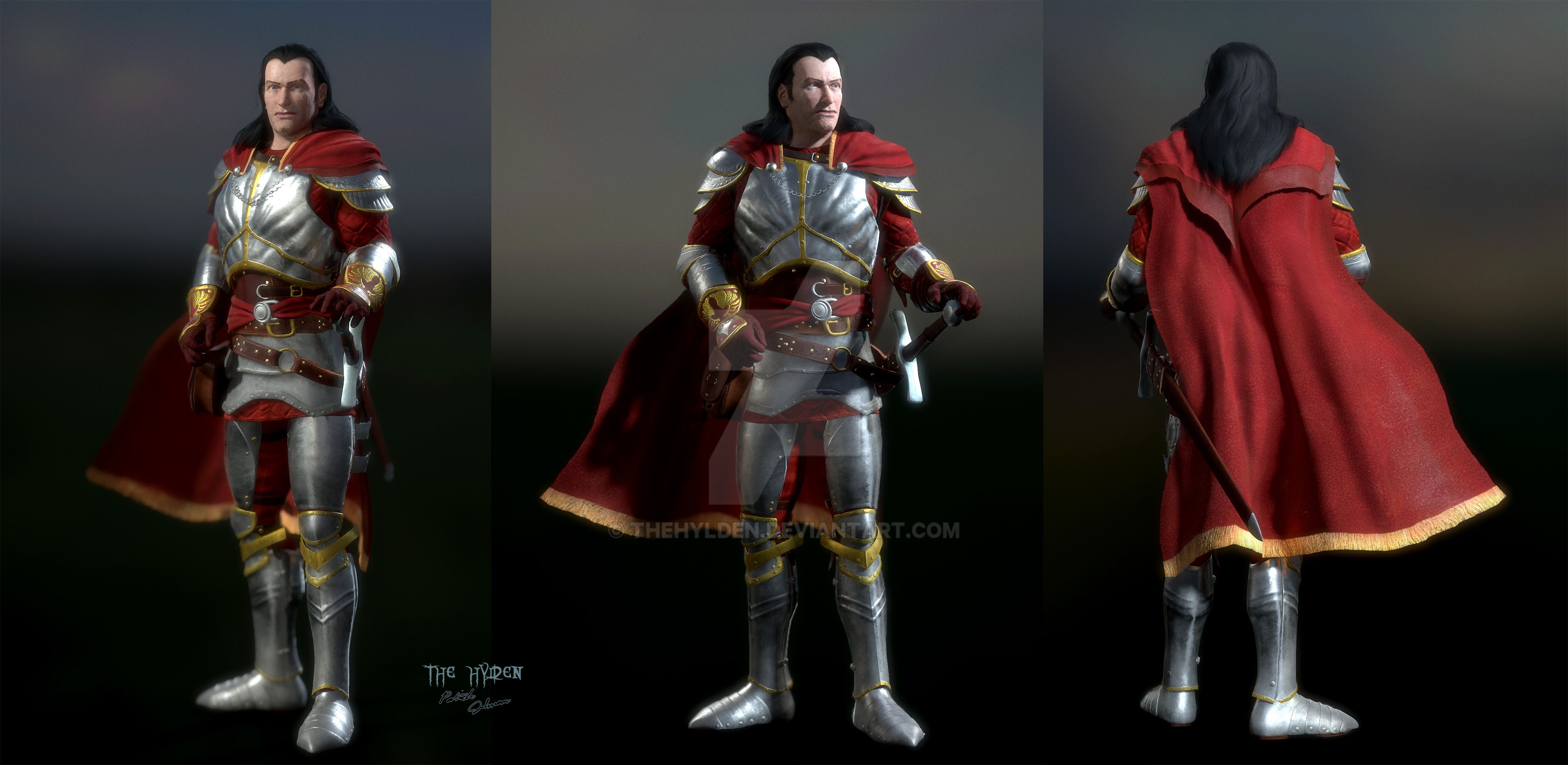 Human Kain: Army Of The Last Hope Armor With Cloak By