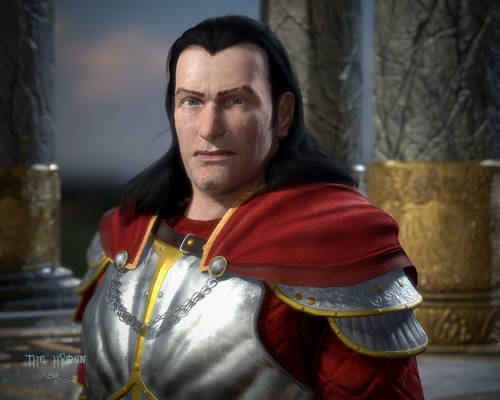 Nobleman Kain - Regal Portrait at the Pillars