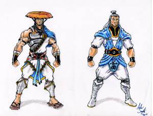 Raiden alternate costume designs