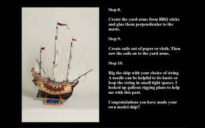 Model ship making step 7