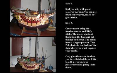 Model ship making step 6