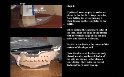 Model ship making step 4