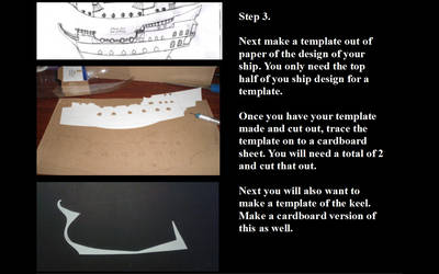 Model ship making step 3