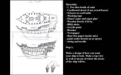 Model ship making step 1