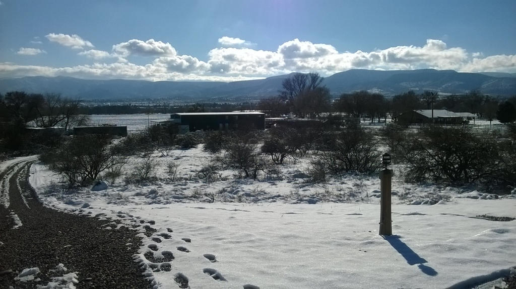 Snow in Camp Verde, AZ by Ashira2112
