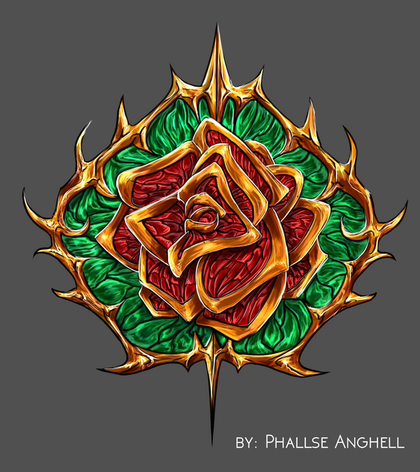 Red Rose Ornament - Adoptable [OPEN] by PhallseAnghell
