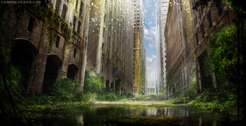 Overgrown City by Aeflus