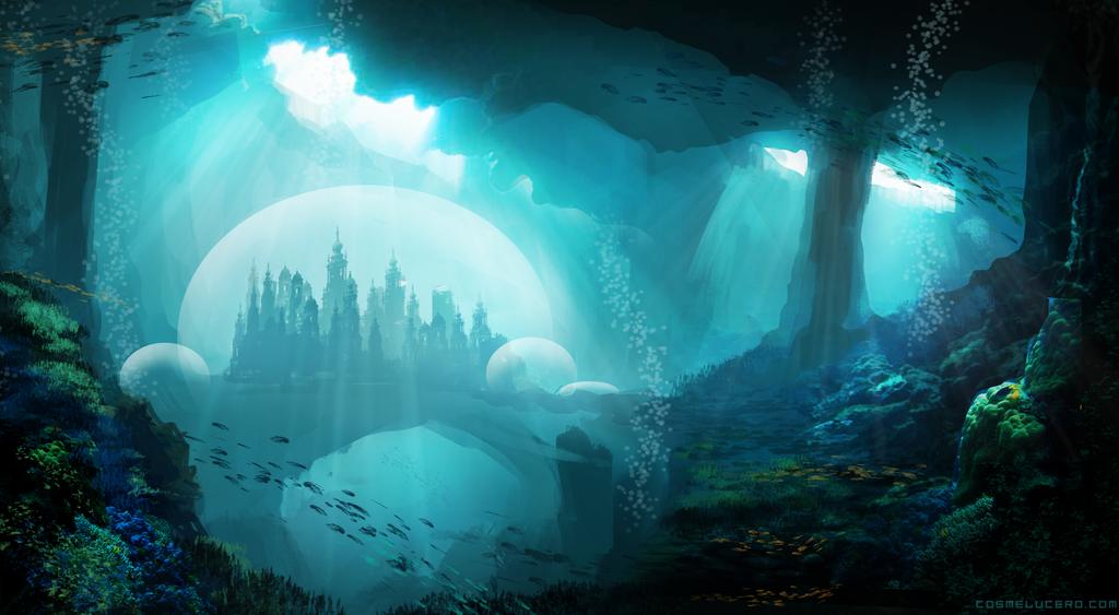 Aquamarine City Speedpaint by Aeflus