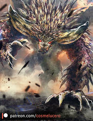 Raging Nergigante patreon by Aeflus