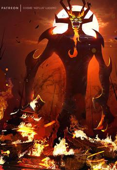 Aku, the Shapeshifting Master of Darkness