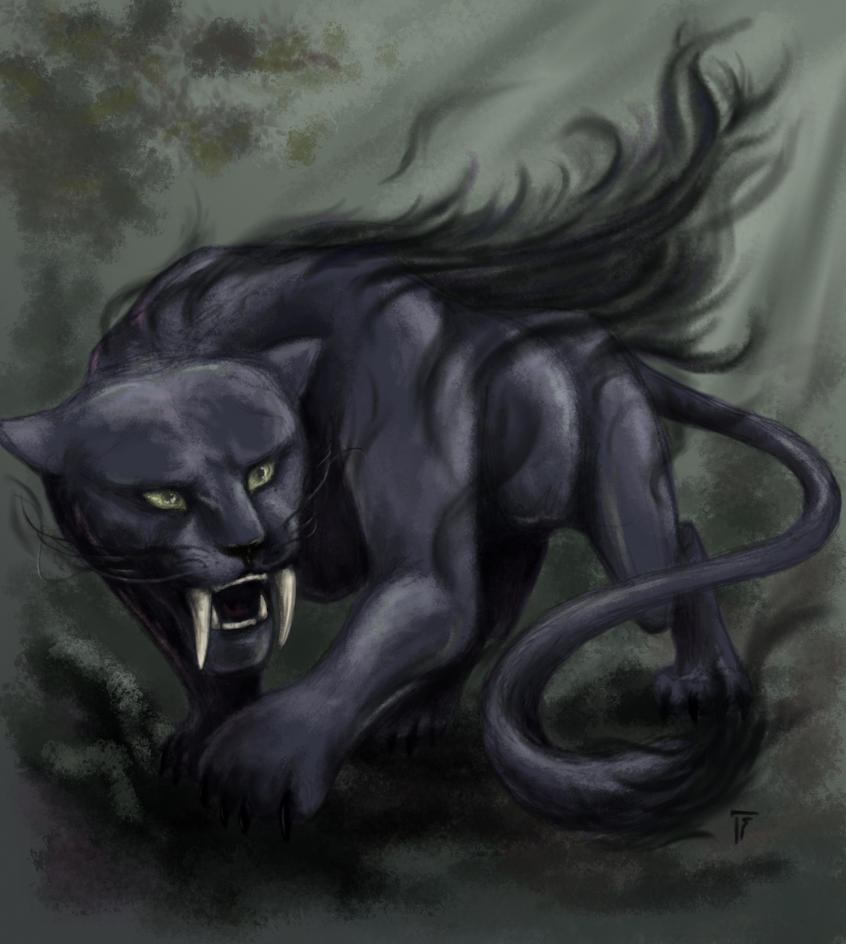 Creature Card: Shadow Cat by Saerileth