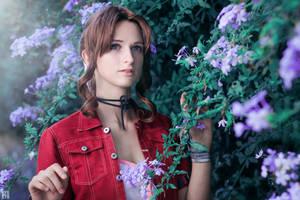 Aerith Gainsborough - Final Fantasy 7- Shoot #1 by RikkuDessin