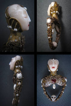 Elisabethan Skull. Pendant