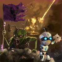 Invader Zim Painting