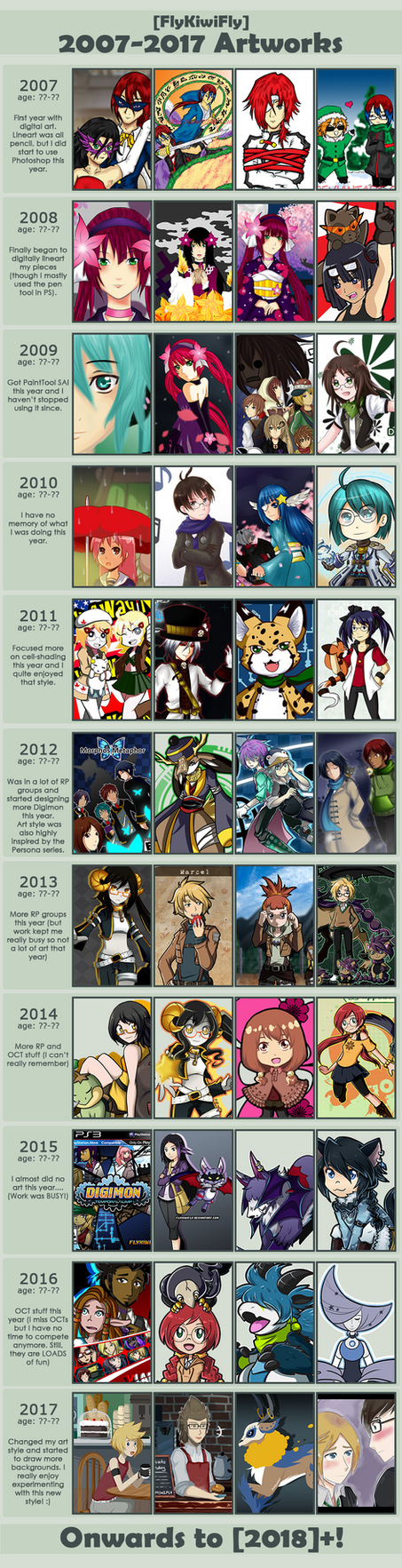 10 Years of Art by FlyKiwiFly