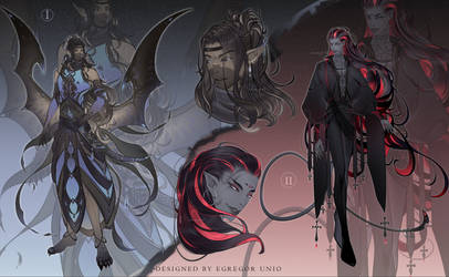 [CLOSED] Experimental sketch designs|demons