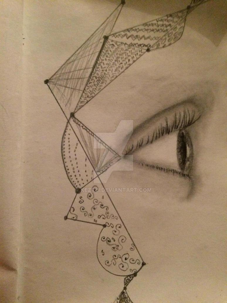 Calculated gaze by Kezrei