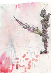 Scinder in A blaze armor