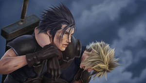 Zack and Cloud - Painting process